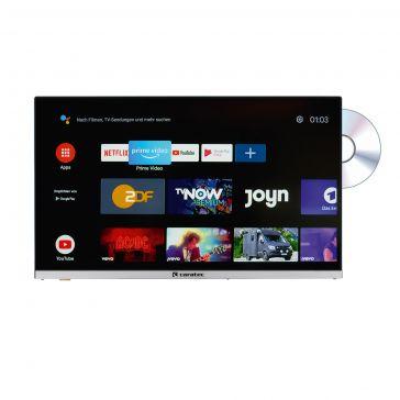 "Caratec Vision CAV220X-DB.SB 55cm (22"") Weitwinkel TV mit DVB-T2 HD, DVB-S2 HD, DVD-Player, Bluetooth und Smart TV Stick"