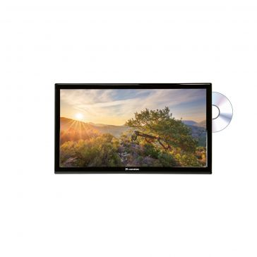 """Caratec Vision CAV240P-D 60cm (24"""") Weitwinkel TV mit DVB-T2 HD, DVB-S2 und DVD-Player"""