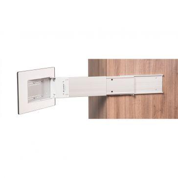 Caratec Flex CFA101L TV-Halter seitlicher Auszug, silber