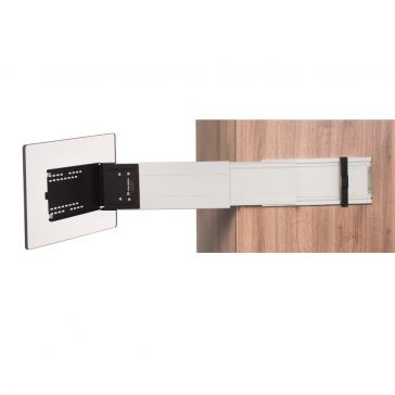 Caratec Flex CFA102L TV-Halter seitlicher Auszug mit Pushlock Ver- und Entriegelung, silber
