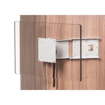 Caratec Flex CFW200G TV-Wandhalter mit 2 Drehpunkten, gespiegelt, silber