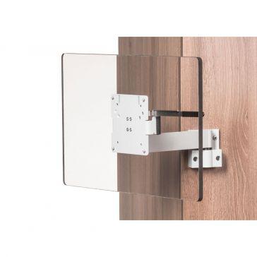 Caratec Flex CFW204A TV-Wandhalter, 2 Drehpunkten, silber