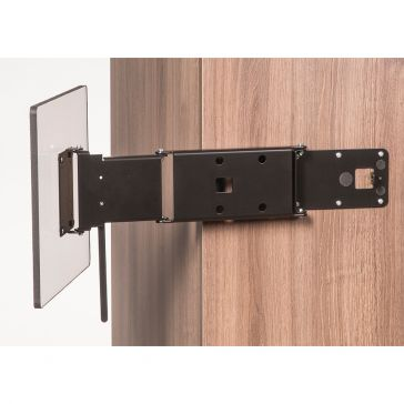 Caratec Flex CFW301S TV-Wandhalter mit 3 Drehpunkten, verriegelbar, schwarz
