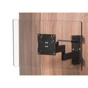 Caratec Flex CFW304AS TV-Wandhalter mit 3 Drehpunkten, schwarz