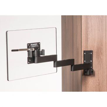 Caratec Flex CFW400AS TV-Wandhalter mit 4 Drehpunkten, schwarz