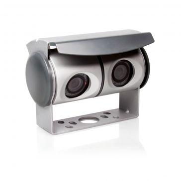 Caratec Safety CS100TLA Twin-Kamera mit IR-Beamer zum Anschluss an Geräte mit zwei Kameraeingängen und mit 20 m Anschlussleitung