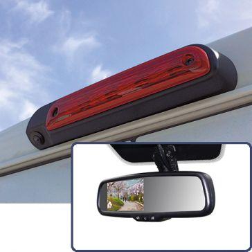 """Caratec Safety CSV4300B Rückfahrvideo-Set für dritte Bremsleuchte mit Spiegelmonitor 4,3"""" (10,9 cm)"""