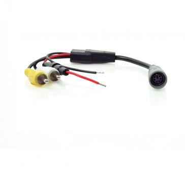 Caratec Safety CSZ106M Monitor-Adapter 6-polige Kupplung auf Cinchstecker