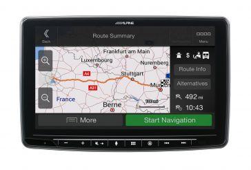 """Alpine INE-F904DC 1-DIN Navigation mit 9"""" (23 cm) Touchscreen"""