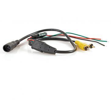 Caratec Safety Monitor-Adapter 4-polige Kupplung auf Cinch-Stecker (Audio und Video)