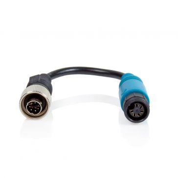 Caratec Safety Monitor-Adapter 6-polige Schraubkupplung auf 6-poligen Metall-Schraubstecker
