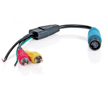Caratec Safety Monitor-Adapter 6-polige Schraubkupplung auf Cinch