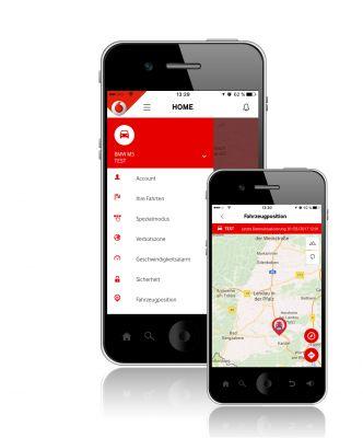 Vodafone Connex Guardian AK2233A Tracker mit Driver Card, Wegfahrsperre und Alarmcenter-Anbindung