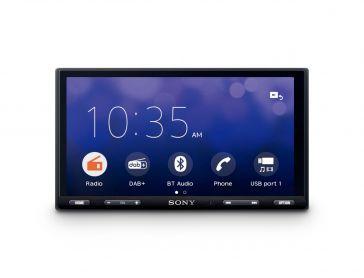 "Sony XAV-AX5550D 2-DIN Moniceiver 6,95 "" (17,6 cm) mit kapazitivem Bildschirm, DAB+, Apple CarPlay, Android Auto und Weblink"