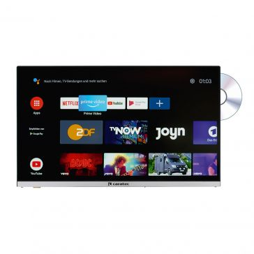 "Caratec Vision CAV240X-DB.SB 60cm (24"") Weitwinkel TV mit DVB-T2 HD, DVB-S2 HD, DVD-Player, Bluetooth und Smart TV Stick"