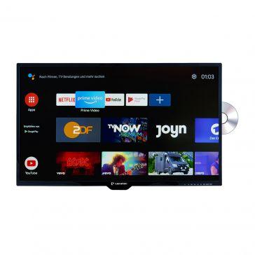 """Caratec Vision CAV320P-D.SB 80cm (32"""") Weitwinkel TV mit DVB-T2 HD, DVB-S2 und DVD-Player und mit Smart TV Stick"""