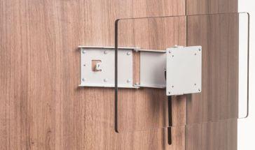 Caratec Flex CFW200 TV-Wandhalter mit 2 Drehpunkten, silber