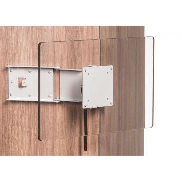 Caratec Flex CFW200G TV-Wandhalter mit 2 Drehpunkten, gespiegelt
