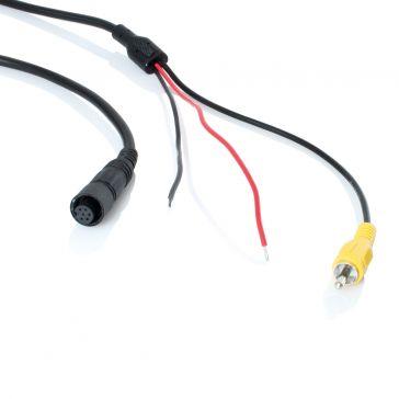 Caratec Safety Kameraleitung, 15 m Mini-Schraubstecker auf Cinch-Stecker
