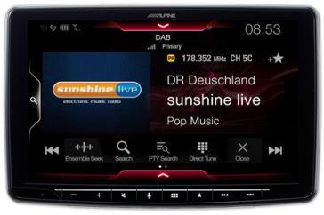 "Alpine iLX-F903D 1-DIN Moniceiver 9"" (23 cm) mit BT + DAB+"