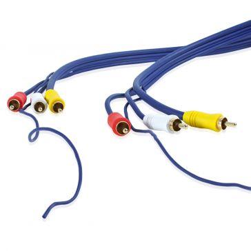 Video-/Audio-Adapter 3,5 mm Klinkenst./3 Cinchkupplung