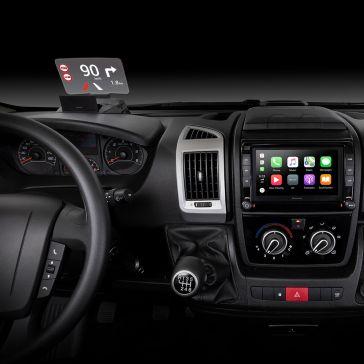 Pioneer SDA-HU100-DUC Head-Up Display für Fiat Ducato, Citroen Jumper und Peugeot Boxer